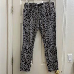 Vanilla Star cheetah print jeggings grey & black 9